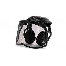 Chrániče sluchu se štítem Husqvarna síťka